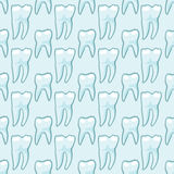 White teeth on blue background. Vector Stock Photography