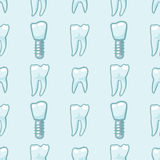 White teeth on blue background. Vector Royalty Free Stock Photo