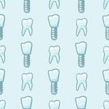 White teeth on blue background. Vector Royalty Free Stock Photography