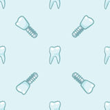 White teeth on blue background. Vector Royalty Free Stock Image