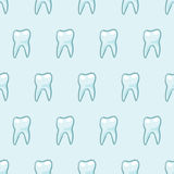 White teeth on blue background. Vector Stock Photo