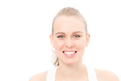White teeth smiling woman Royalty Free Stock Image
