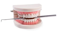 White teeth Stock Images