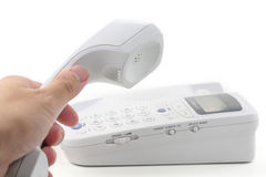 white telefonu Obrazy Royalty Free
