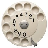 White Telephone Dial Royalty Free Stock Image