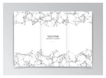 White template of booklet with abstract elements Royalty Free Stock Images