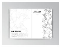 White template of brochure with abstract elements royalty free illustration
