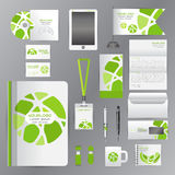 White template with green Circle origami elementsVector Stock Image