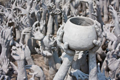 The White Temple. The Hell at the white temple Royalty Free Stock Images