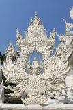 White temple. Detail of White Temple in Chiang Rai, Thailand stock photo