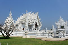 White temple. In Chiang Rai, Thailand stock photos