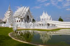White temple. With blue sky Royalty Free Stock Image