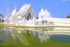 White temple. With blue sky Royalty Free Stock Photo