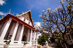 White temple on the blue sky. Stock Photography