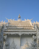 White temple and blue sky. Royalty Free Stock Photos