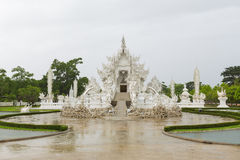 White temple called Wat Rong Khun from Stock Photo