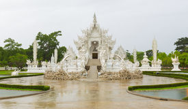 White temple called Wat Rong Khun Stock Photos