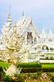 White temple at Chiang rai Royalty Free Stock Photos