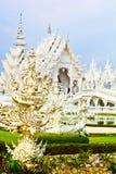 White temple at Chiang rai Royalty Free Stock Photos