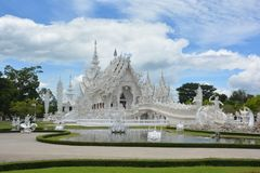 White temple. In Chiang Rai Stock Images