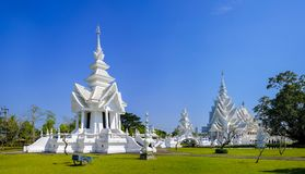 White Temple in Chiang Rai. Beautiful White Temple, or Wat Rong Khun, near Chiang Rai, Thailand, designed and owned by artist Chalermchai Kositpipat Royalty Free Stock Photography