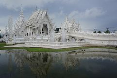 White Temple in Chiang Rai in north Thailand stock image
