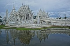 White Temple in Chiang Rai in north Thailand royalty free stock images