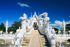 White temple. In Chiang Rai province, Northern Thailand Royalty Free Stock Image