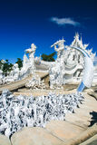 White temple. In Chiang Rai province, Northern Thailand Stock Photography