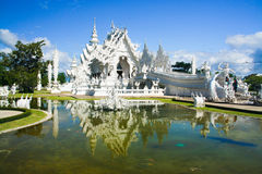 White temple. In Chiang Rai province, Northern Thailand Royalty Free Stock Photos