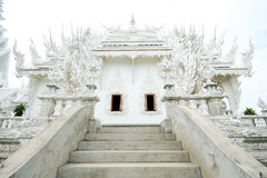 White Temple in Chiang Rai province of Thailand 4 stock photo