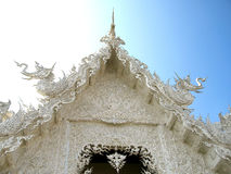 White temple at Chiang Rai in Thailand. Wat Rong Khun white temple at Chiang Rai in Thailand Royalty Free Stock Images