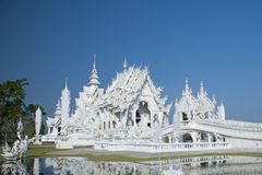 White Temple Chiang Rai Thailand. Beautiful ornate white Temple located in Chiang Rai northern Thailand Royalty Free Stock Image