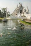 White temple, Chiang Rai, Thailand Royalty Free Stock Photos