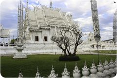 The White temple in Chiang Rai, Thailand stock image
