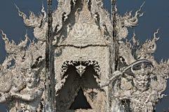 White Temple in Chiang Rai, Thailand. Sun reflects off of the White Temple in Chiang Rai, Thailand Royalty Free Stock Photo