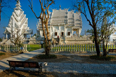 White Temple, Chiang Rai, Thailandia. Royalty Free Stock Photography