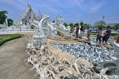 White Temple in Chiang Rai Royalty Free Stock Photo