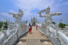 White Temple in Chiang Rai Royalty Free Stock Image