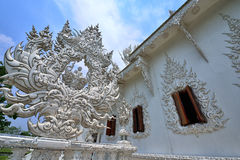 White Temple in Chiang Rai Stock Photos