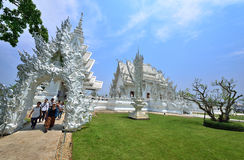 White Temple in Chiang Rai Royalty Free Stock Photos