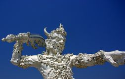 White Temple Detail Stock Photography