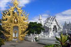 White Temple After The Earthquake. Stock Images