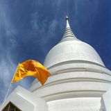 white temple and flag Stock Photos