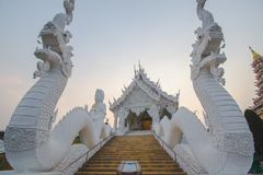 White Temple in Huai Pla Kung Temple. North of Thailand royalty free stock photography