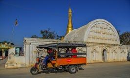 White temple in Inle Lake, Myanmar royalty free stock photo