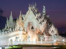 White temple is landmark of Chiangrai, Thailand Stock Photography