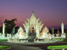 White temple is landmark of Chiangrai, Thailand Royalty Free Stock Images