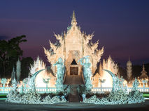 White temple is landmark of Chiangrai, Thailand Royalty Free Stock Photography