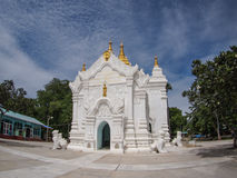 White Temple. In Mingun ancient capital city near Mandalay, Myanmar Stock Images